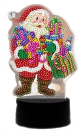 Diamond painting ledverlichting kerstman (verschillende kleuren led)