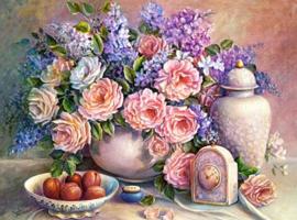 Diamond painting prachtige rozen (50x40cm)(full)