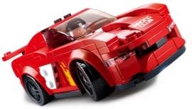 Diamond blocks (grote steentjes) rode auto (163 blokjes)