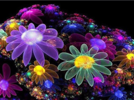 Diamond painting happy flower (60x45cm)(full)