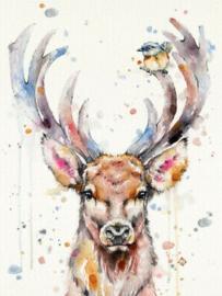 Diamond painting hert (50x40cm)(full)