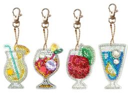 Diamond painting sleutelhangers cocktails
