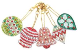 Diamond painting sleutelhangers (kerst)(full)