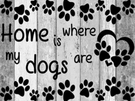 Diamond painting dogs home (60x45cm)(full)