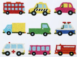 Diamond painting stickers (9 stuks)(auto's)