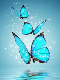 Diamond painting 3 vlinders (40x30cm)(full)