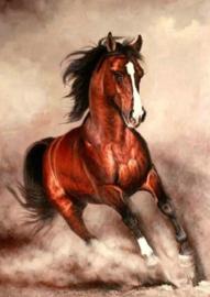 Diamond painting ren paard (60x40cm)