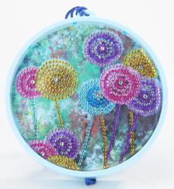 Diamond painting met ledverlichting bloemen (15x15cm)