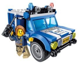 Diamond blocks politie jeep (+/-150 blokjes)