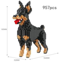 Diamond blocks dobberman hond (957 blokjes)