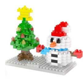 Diamond blocks kerst sneeuwpop (155 steentjes)