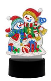 Diamond painting ledverlichting sneeuwpoppen (verschillende kleuren led)