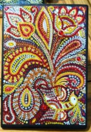 Diamond painting notitie boek bloemen