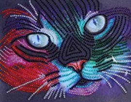 Diamond painting neon poes (25x20cm)