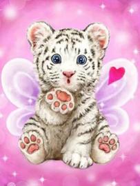 Diamond painting schattig tijgertje (60x45cm)(full)