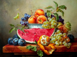 Diamond painting fruitschaal (60x45cm)(full)