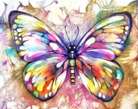 Diamond painting mooie vlinder (50x40cm)(full)