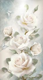 Diamond painting prachtige witte bloemen (50x35cm)(full)