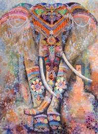 Diamond painting prachtige olifant (80x60cm)(full)