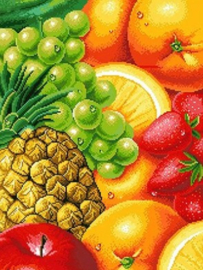 Diamond painting prachtig fruit (50x40cm)(full)
