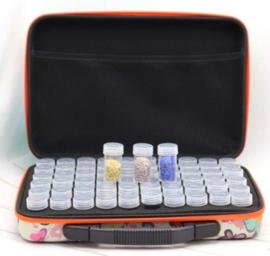 Koffer met vlinder 60 doosjes voor diamond painting