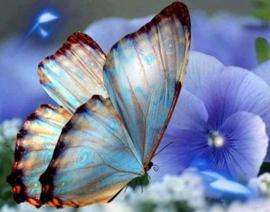 Diamond painting vlinder (40x30cm)(full)