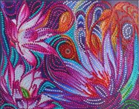Diamond painting fleurige bloemen (25x20cm)