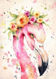 Diamond painting flamingo (50x40cm)(full)