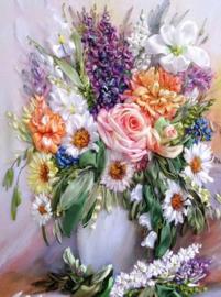 Diamond painting bos bloemen (40x30cm)(full)