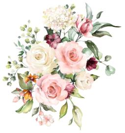 Diamond painting bruidsboeket (50x50cm)(full)