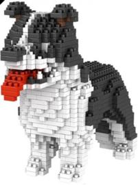 Diamond blocks wit/zwart hond (900 blokjes)