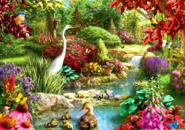 Diamond painting mooie tuin (60x40cm)