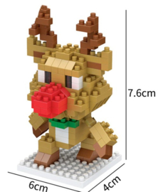 Diamond blocks kerst hertje (166 blokjes)