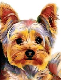 Diamond painting schattig hondje (30x20cm)(full)