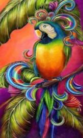 Diamond painting kleurige papegaai (60x40cm)(full)