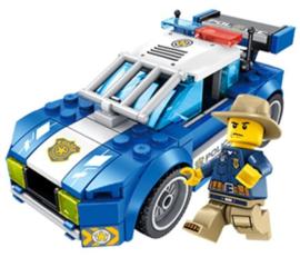 Diamond blocks politie auto (+/-150 blokjes)