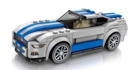 Diamond blocks (grote steentjes) Ford mustang (190 blokjes)