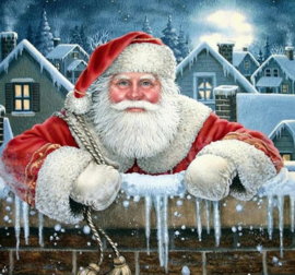 Diamond painting kerstman (50x50cm)(full)