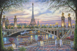 Diamond painting romantisch Parijs (80x60cm)(full)