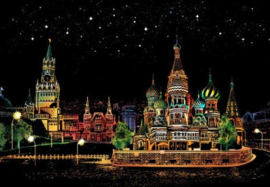 Scratch painting (Red Square Moscow)