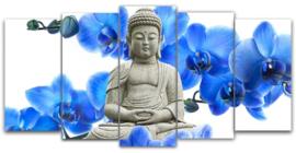 Diamond painting boeddha (5 luik)(2x15x30cm)(2x15x35cm)(1x15x40cm)(full)
