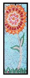 Diamond painting boekenlegger (bloem)