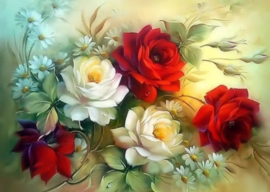 Diamond painting prachtige rozen (40x30cm)(full)