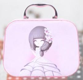 Prachtige koffer met 24 opbergdoosjes (meisje)