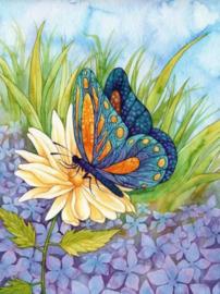 Diamond painting prachtige vlinder (60x45cm)(full)