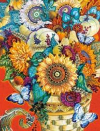 Diamond painting fleurige bloemen (60x45cm)(full)