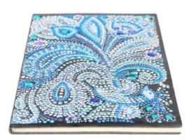 Diamond panting notitie boek pauwen veer