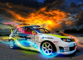 Diamond painting Subaru sport (60x45cm)(full)