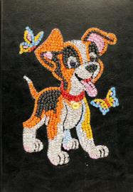 Diamond panting notitie boek hondje