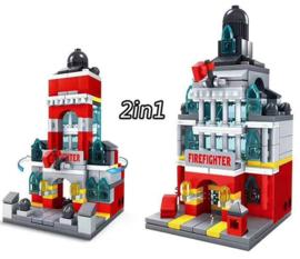 Diamond blocks  brandweer kazerne (141 blokjes)